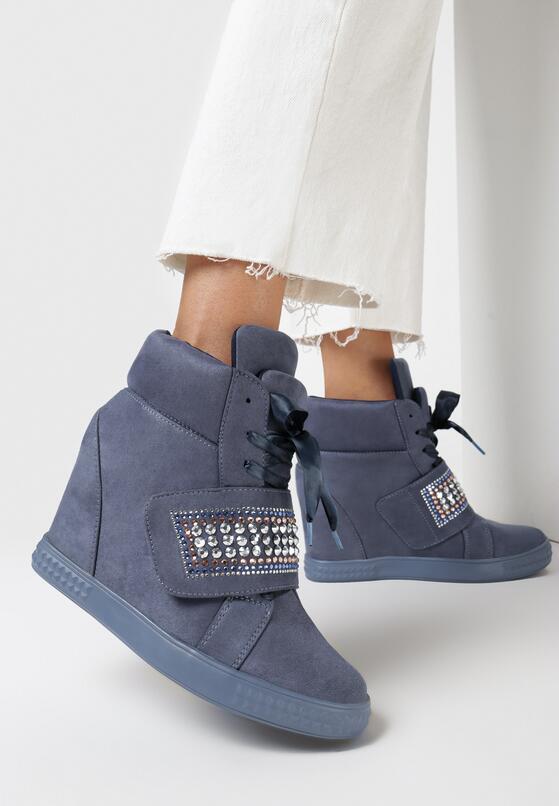 Niebieskie Sneakersy Stop Me Now