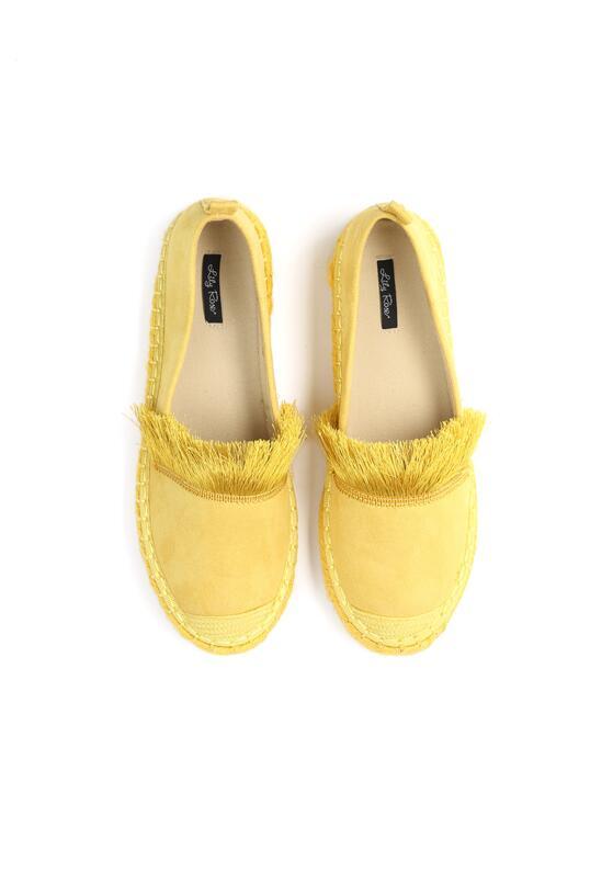 Żółte Espadryle Beautiful Surprise