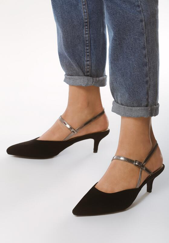Czarne Sandały Be My Hero