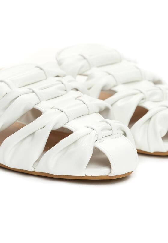 Białe Klapki Auburn