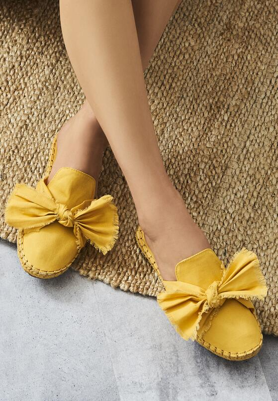 Żółte Klapki Moonstone