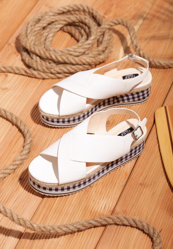 Białe Sandały Squared