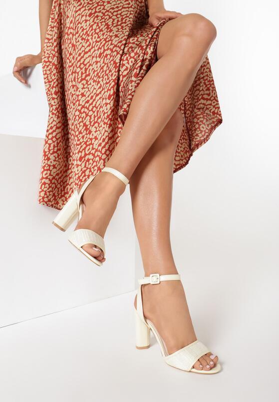 Beżowe Sandały Third Party