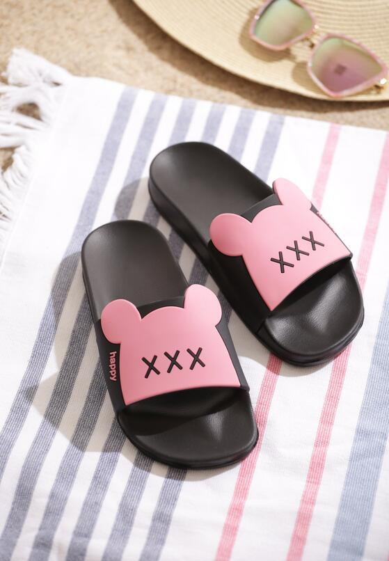 Różowe Klapki Minnie's Shoes