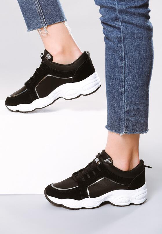 Czarne Sneakersy Stretch