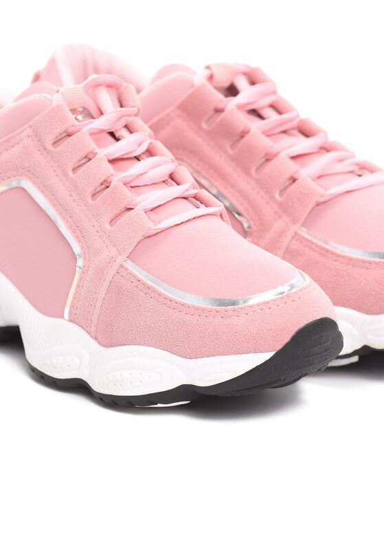 Różowe Sneakersy Stretch