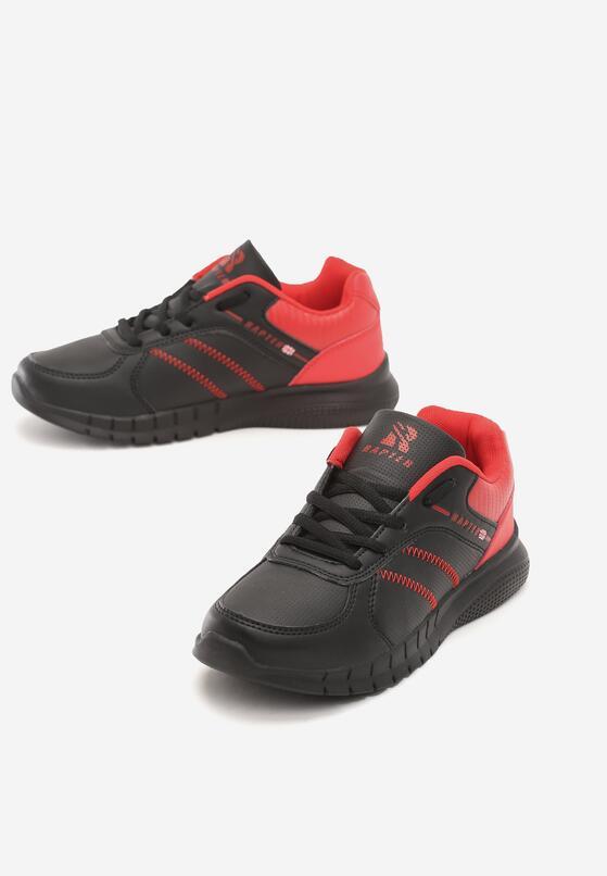 Czarno-Czerwone Buty Sportowe Look Lovely