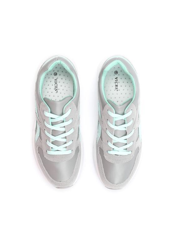 Szaro-Miętowe Buty Sportowe Firmament
