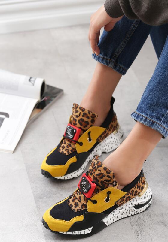 Żółte Sneakersy Termed