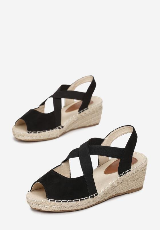 Czarne Sandały Rainboot