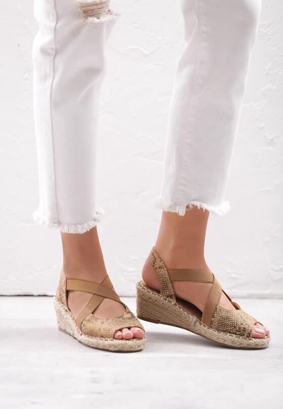 Brązowe Sandały Rainboot