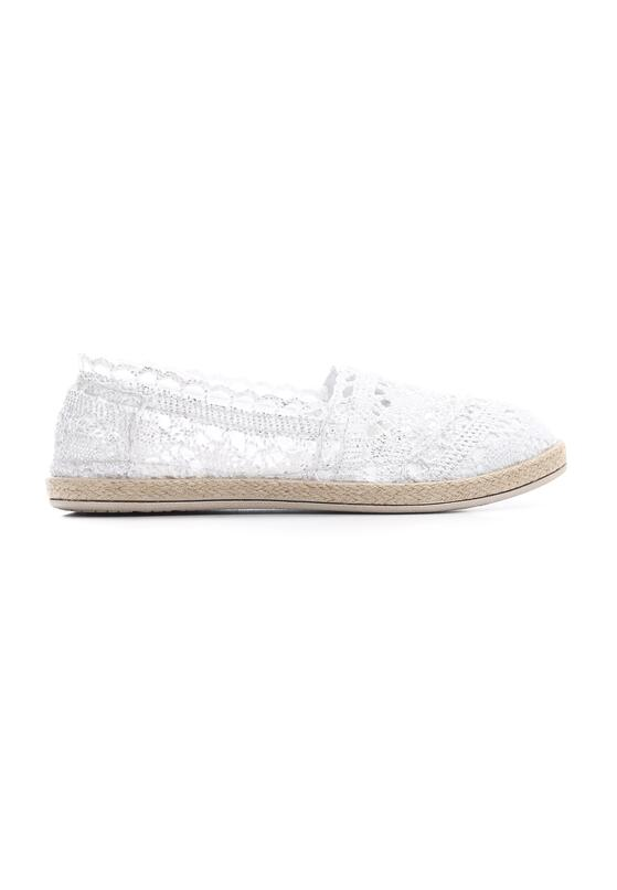 Srebrne Espadryle Satisfyingly