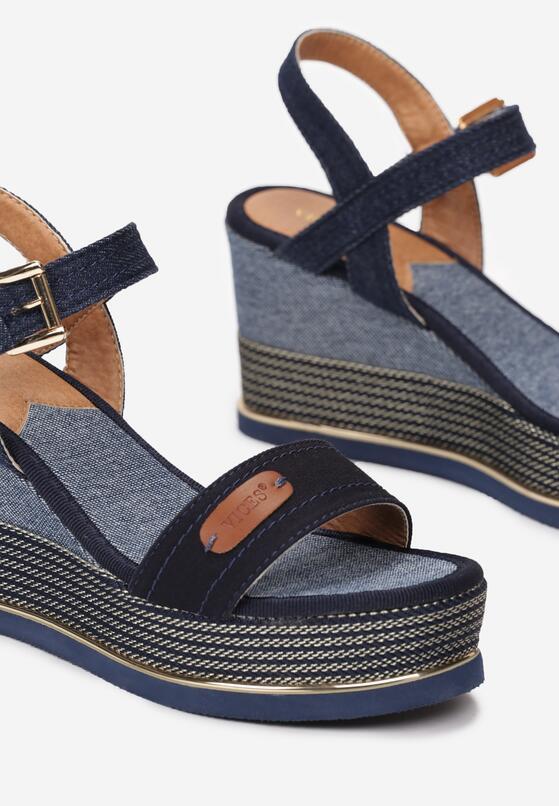 Granatowe Sandały Sociopathic