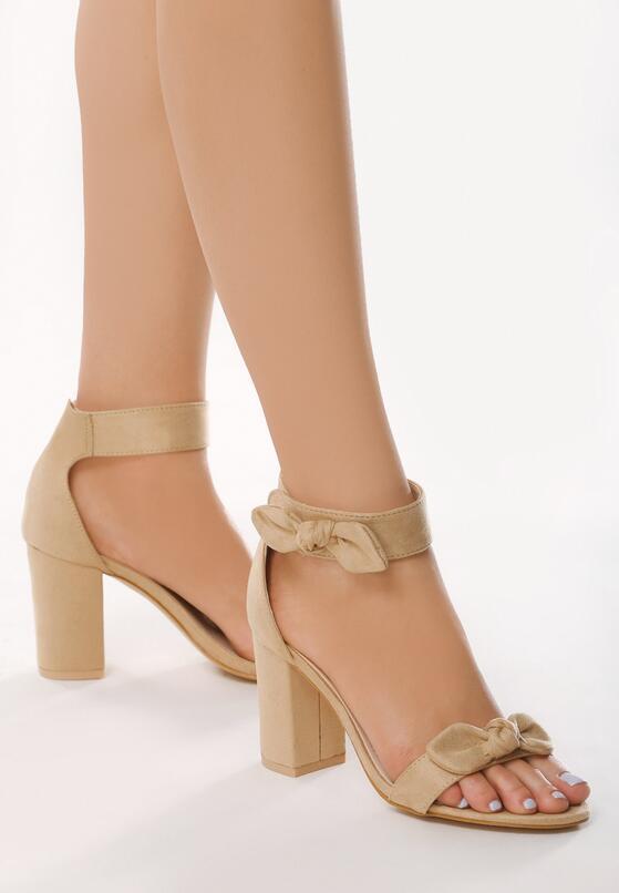 Beżowe Sandały Curtness