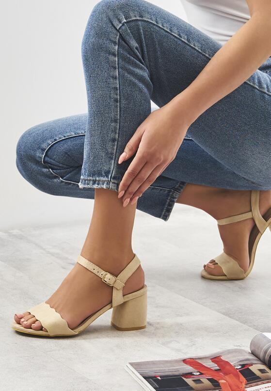 Beżowe Sandały Con Calma