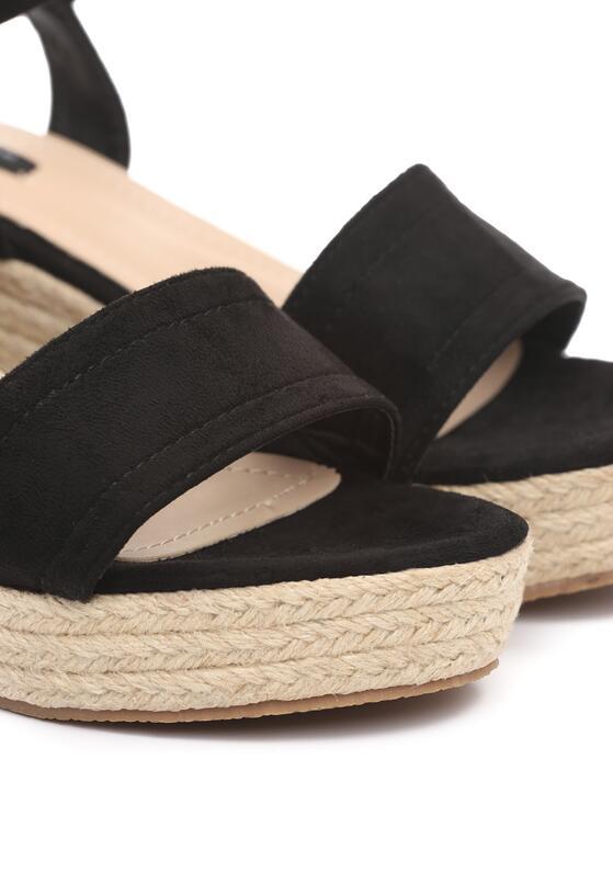 Czarne Sandały Mean Spirited