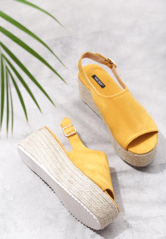 Żółte Sandały Undisputable