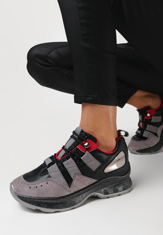 Czarne Sneakersy Stubbornness