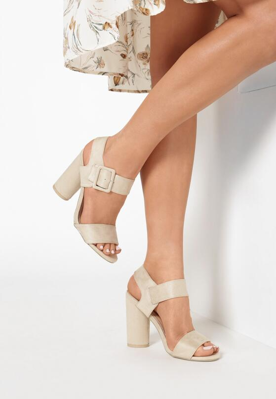 Beżowe Sandały Sardonic