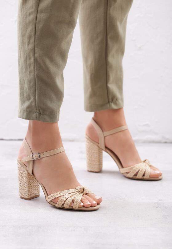 Beżowe Sandały Achievable