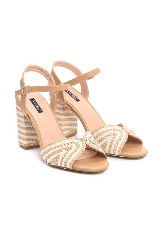 Beżowe Sandały Self-Starting