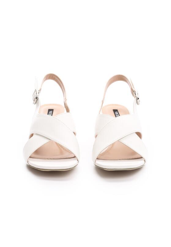 Białe Sandały Self-Destructive