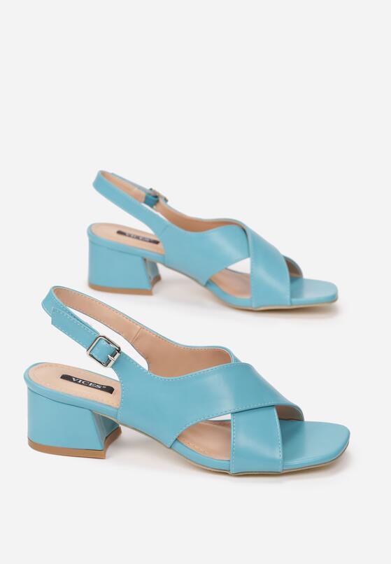 Niebieskie Sandały Self-Destructive