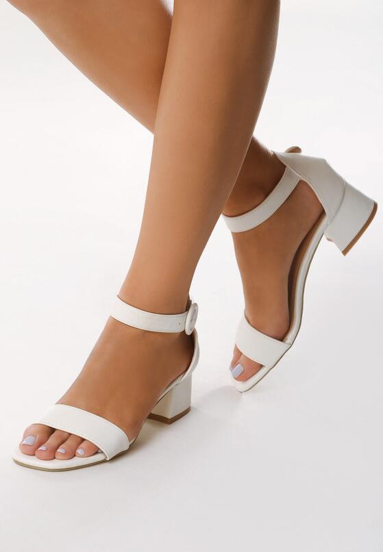 Białe Sandały Hot Tempered