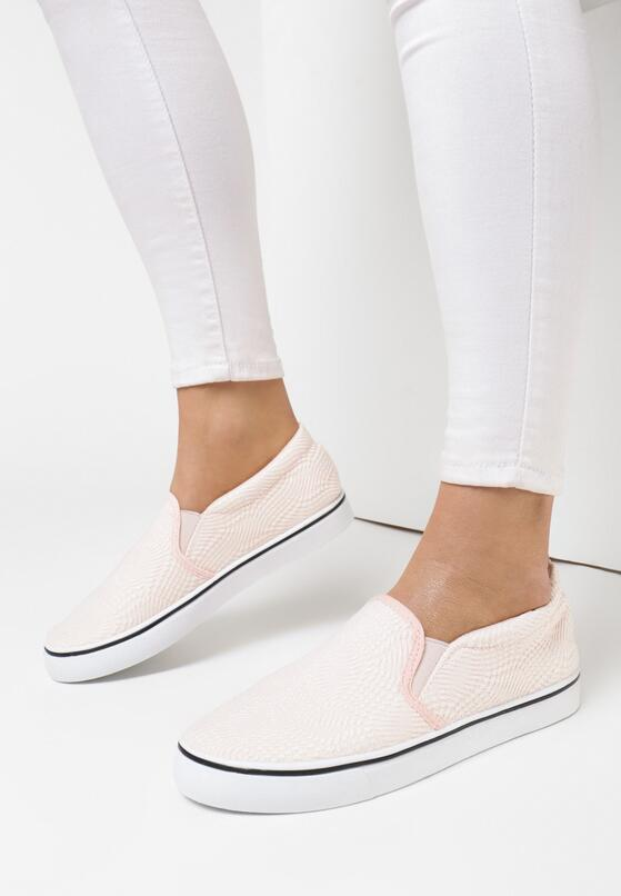 Różowe Slip On Mime