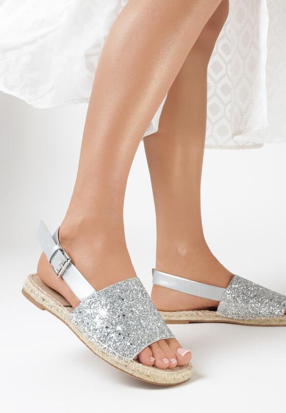 Srebrne Sandały Coquetry