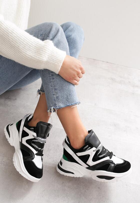 Czarno-Białe Sneakersy Endlebury
