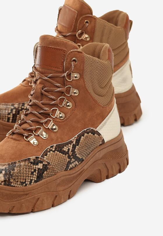Camelowe Sneakersy Alternatywka