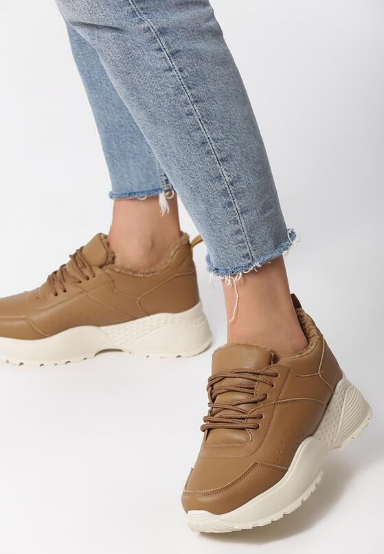 Beżowe Sneakersy Caieiras