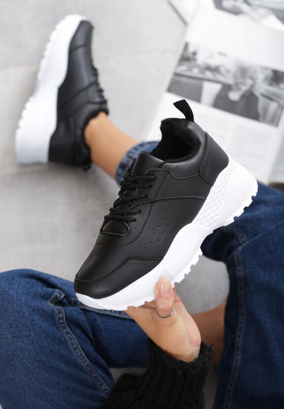 Czarno-Białe Sneakersy Caieiras