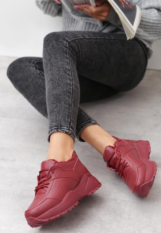 Bordowe Sneakersy Caieiras