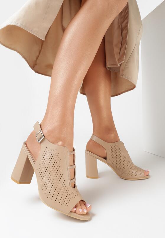 Beżowe Sandały Lephali