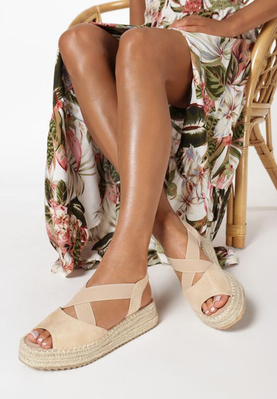 Beżowe Sandały Acsixera
