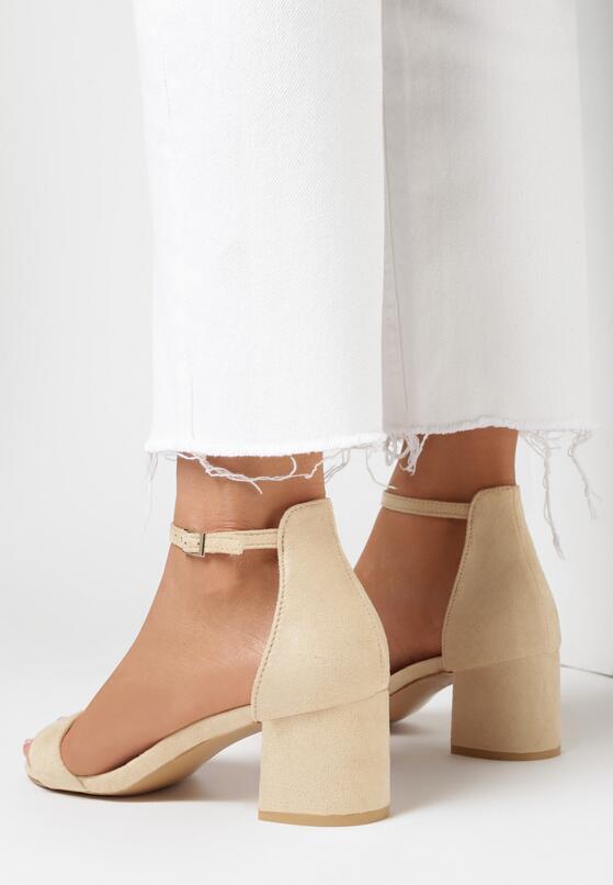 Beżowe Sandały Loreria