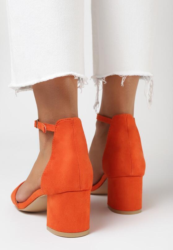 Pomarańczowe Sandały Loreria