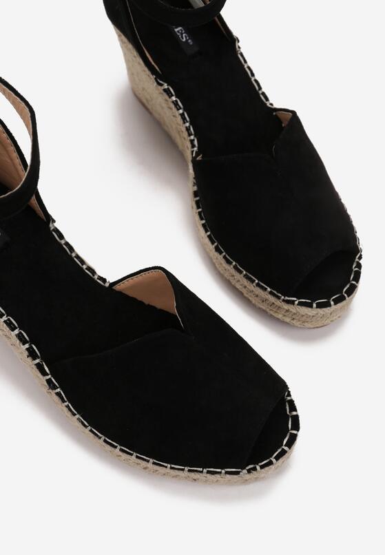 Czarne Sandały Aetherin