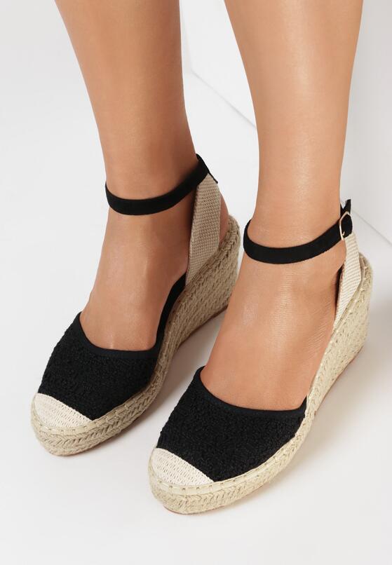 Czarne Sandały Synarope