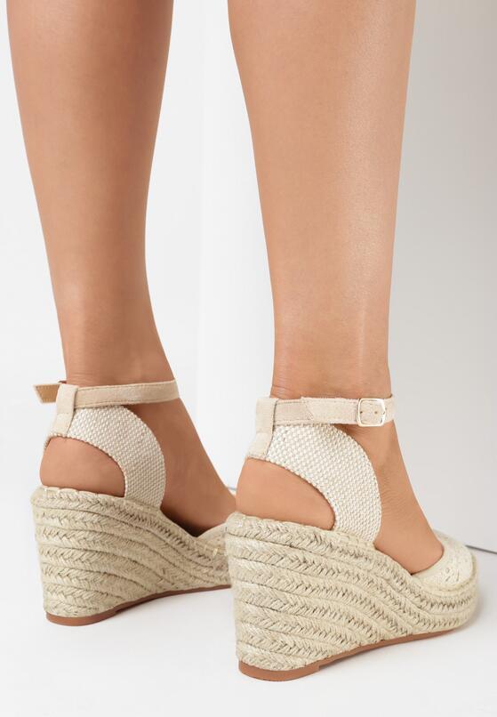 Beżowe Sandały Synarope