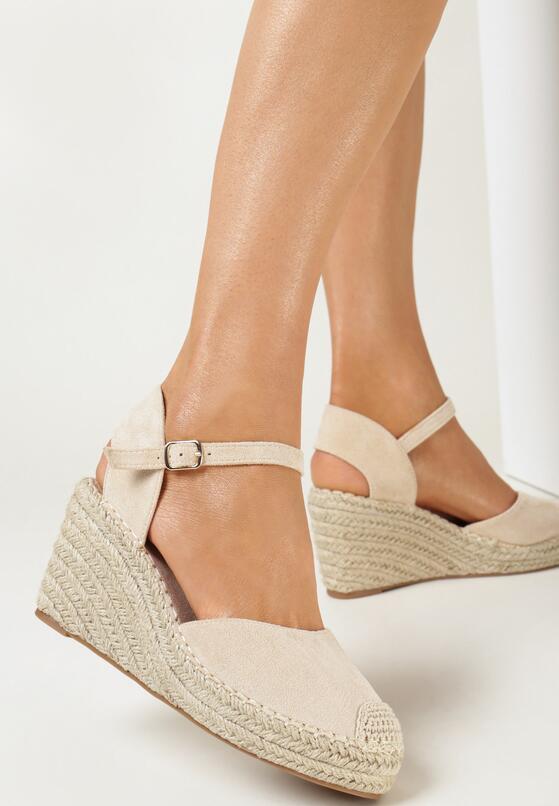 Beżowe Sandały Alanohre