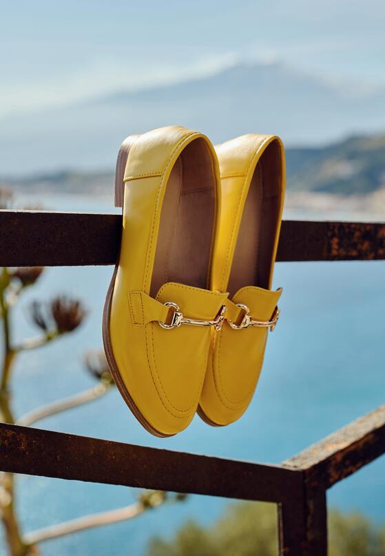 Żółte Mokasyny Cortez