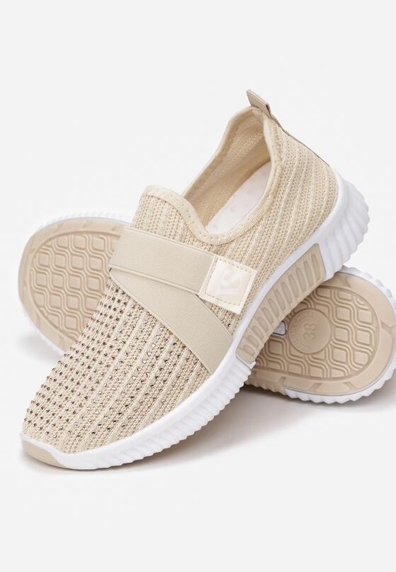 Beżowe Buty Sportowe Finemond