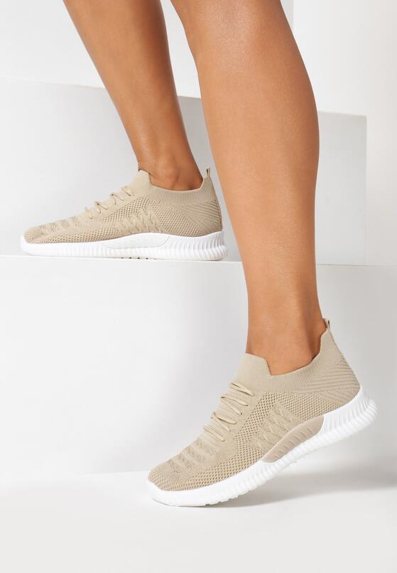 Beżowe Buty Sportowe Adrearene