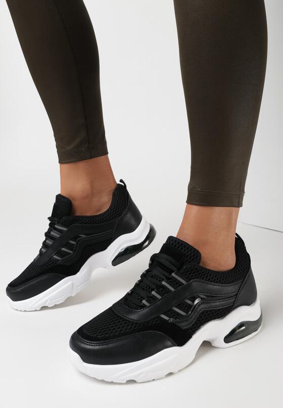 Czarne Sneakersy Natural Glisten
