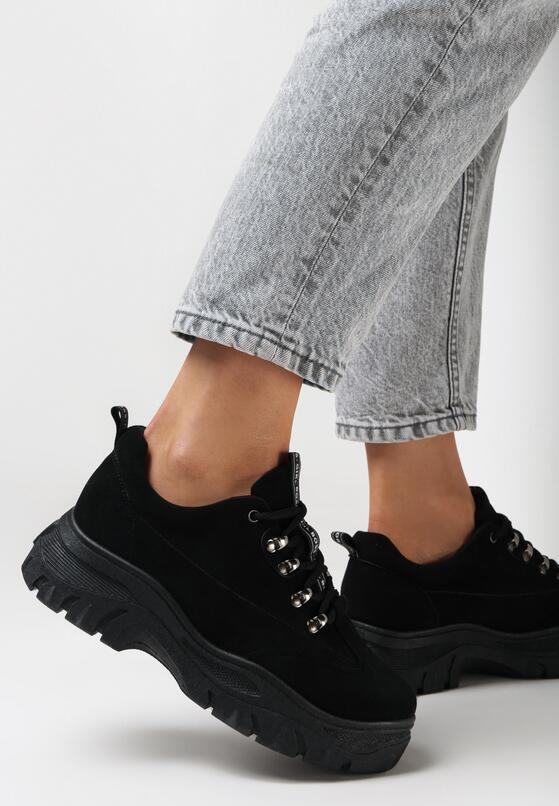 Czarne Zamszowe Sneakersy Merellien