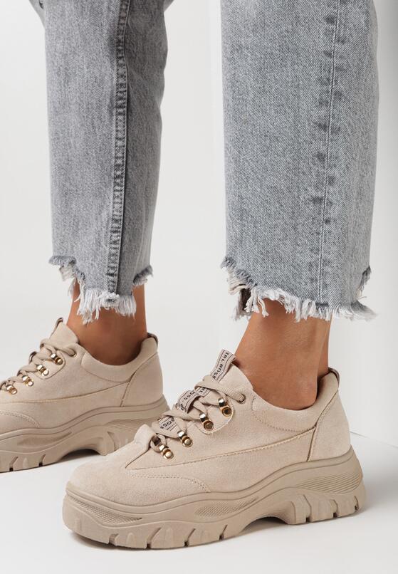Beżowe Sneakersy Merellien