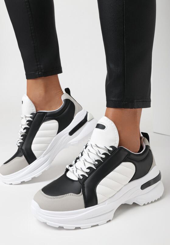 Czarne Sneakersy Hyneh